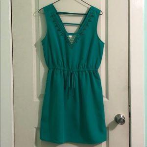 BeBop teal colored dress